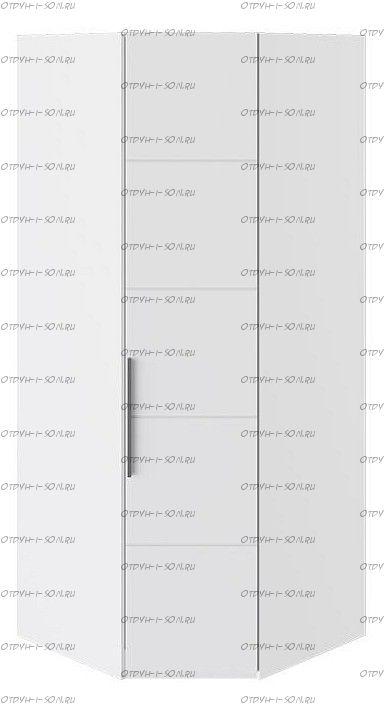 Шкаф угловой с 1-й дверью Наоми СМ-208.07.06 Белый глянец