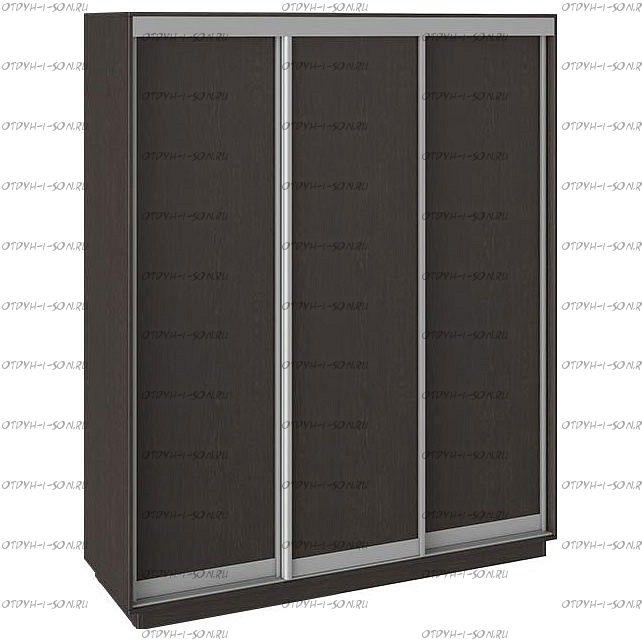 Шкаф-купе 3-х дверный Румер СШК 1.180.60-11.11.11 (1800x600x2200) Венге, Венге/венге/венге