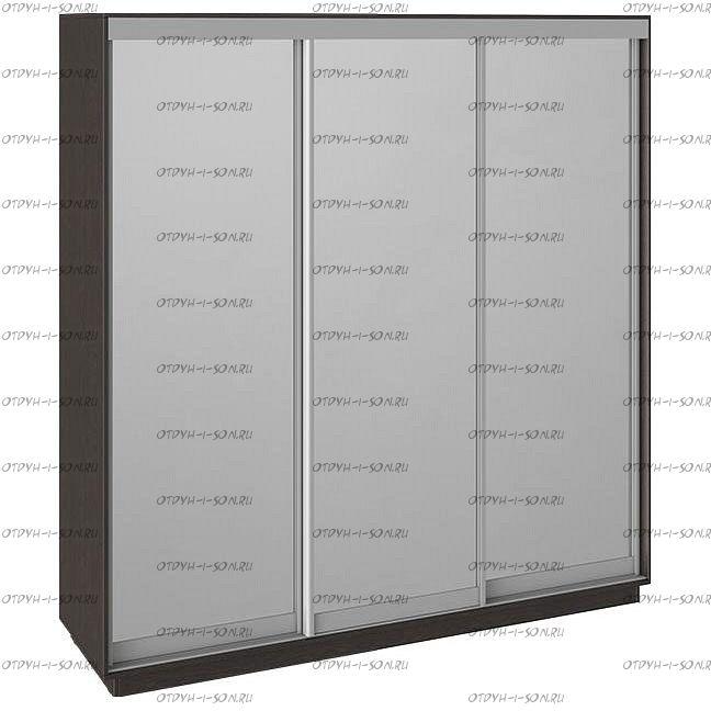 Шкаф-купе 3-х дверный Румер СШК 1.210.70-13.13.13 (2100x600x2200) Венге, Зеркало/зеркало/зеркало