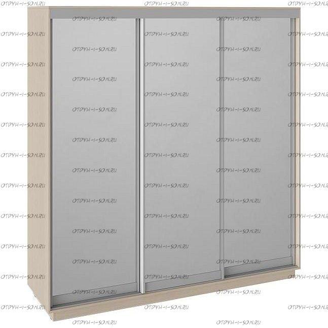 Шкаф-купе 3-х дверный Румер СШК 1.210.70-13.13.13 (2100x600x2200) Дуб молочный, Зеркало/зеркало/зеркало