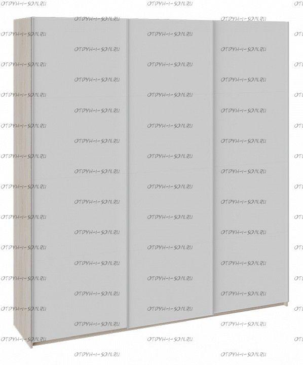 Шкаф-купе 3-х дверный Траст СШК 2.210.70-11.11.11 (2100x580x2300) Дуб Сонома, Белый снег/ Белый снег/ Белый снег