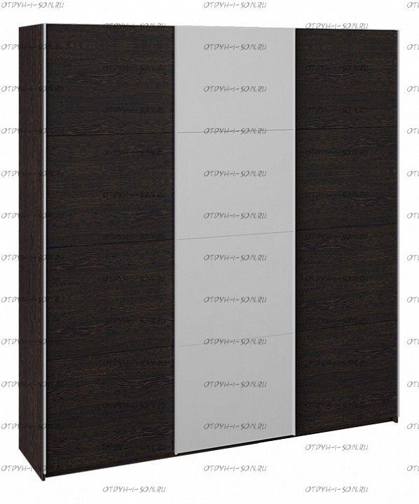 Шкаф-купе 3-х дверный Траст СШК 2.210.70-11.13.11 (2100x580x2300) Венге, Венге/зеркало/венге