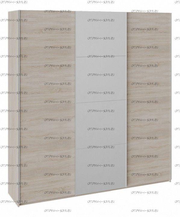 Шкаф-купе 3-х дверный Траст СШК 2.210.70-11.13.11 (2100x580x2300) Дуб Сонома, Дуб Сонома/Зеркало/Дуб Сонома