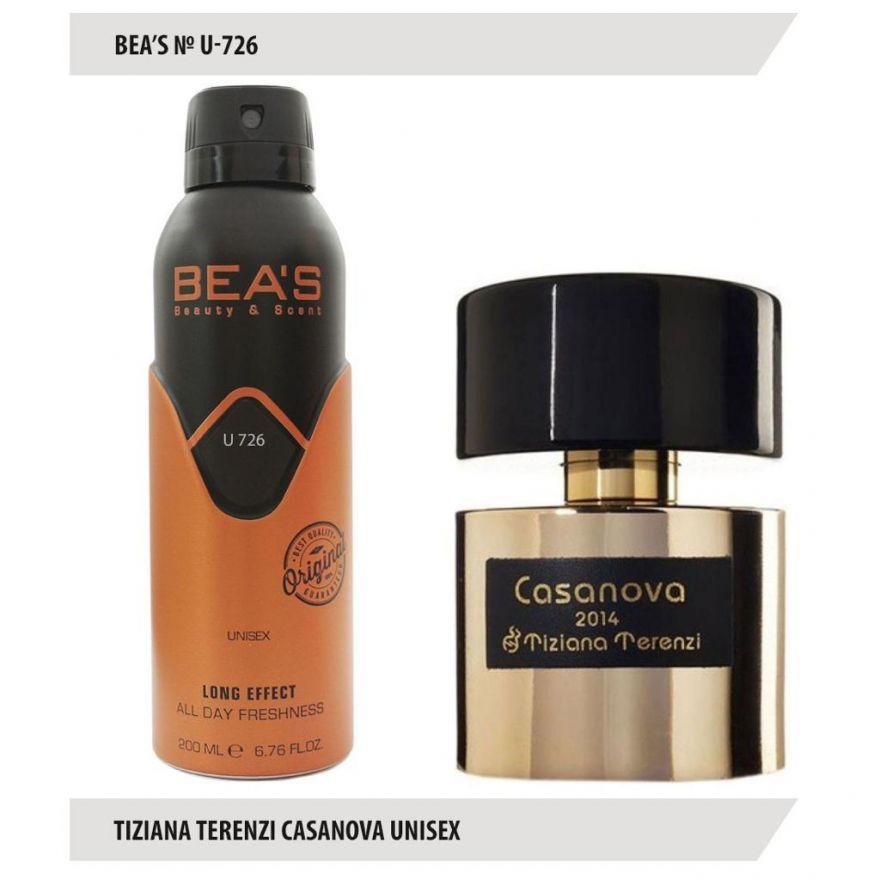 Дезодорант BEA'S U 726 - Tiziana Terenzi Casanova 200мл