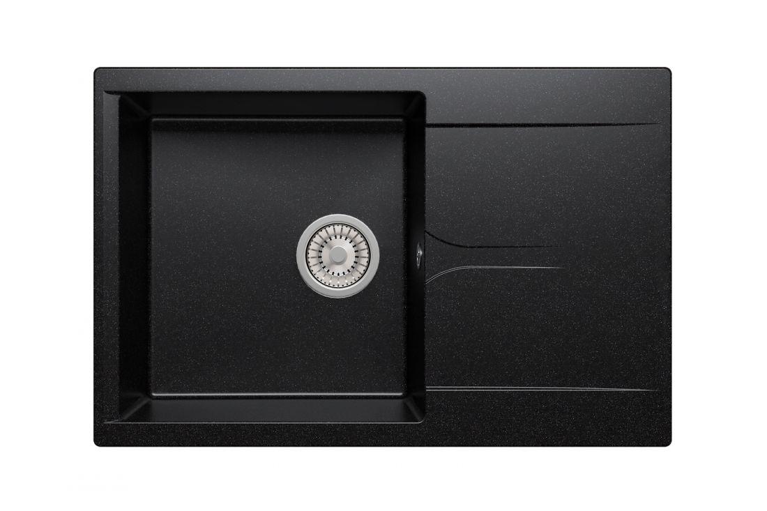 Кухонная мойка POLYGRAN Gals-760 (Gals-760 № 16 черный)
