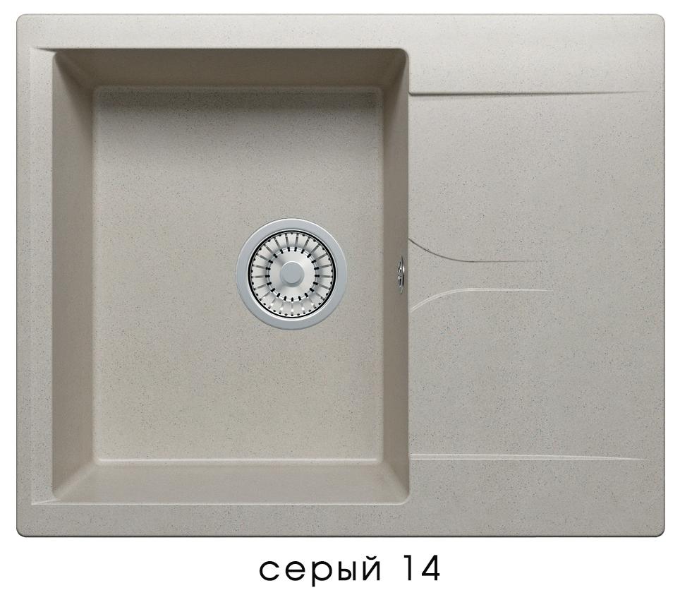 Кухонная мойка POLYGRAN Gals-620 (Gals-620 № 14 серый)