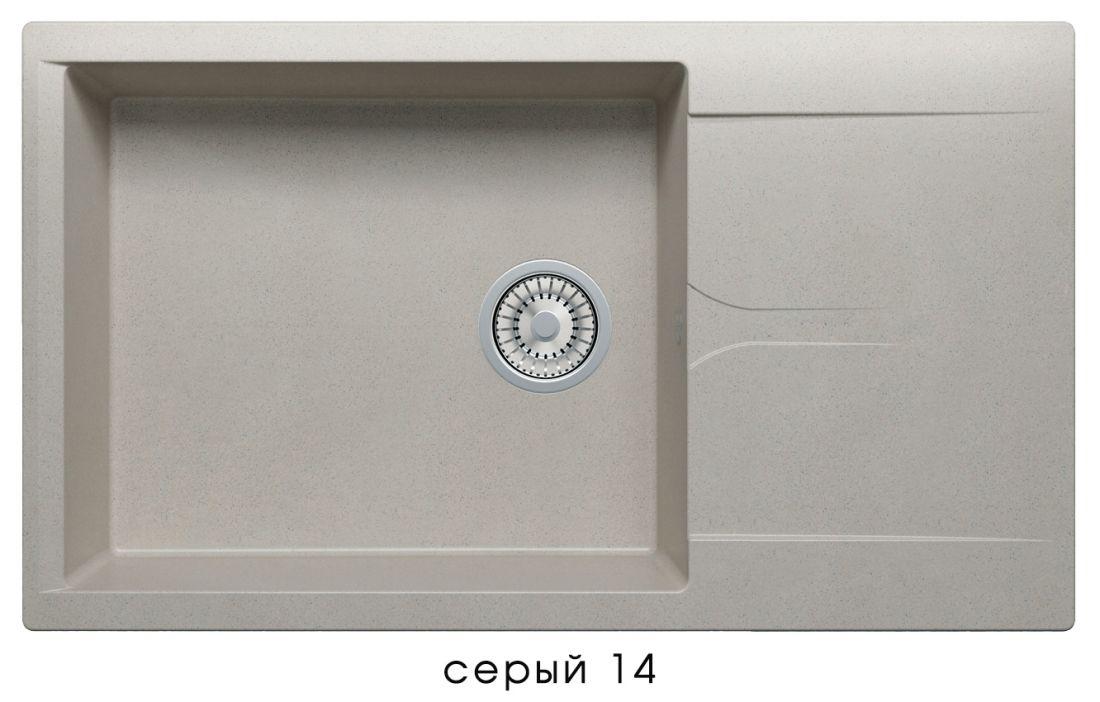 Кухонная мойка POLYGRAN Gals-862 (GALS-862 Серая №14)