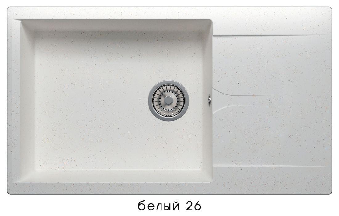 Кухонная мойка POLYGRAN Gals-862 (GALS-862 Белая №26)