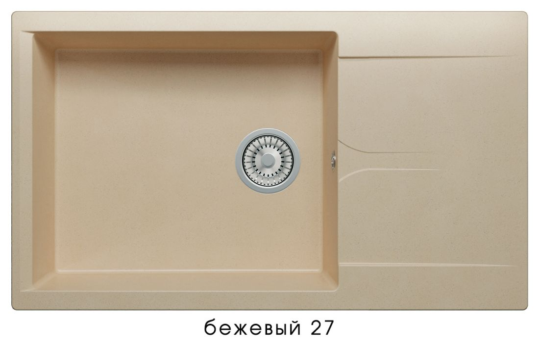 Кухонная мойка POLYGRAN Gals-862 (GALS-862 Бежевая №27)