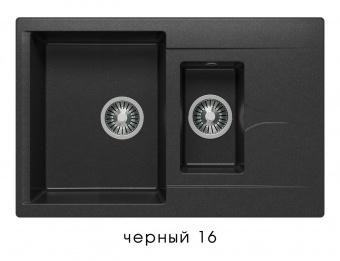 Кухонная мойка POLYGRAN Brig-770 (Polygran Brig -770 черный №16)