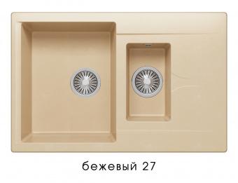 Кухонная мойка POLYGRAN Brig-770 (Polygran Brig -770 бежевый №27)