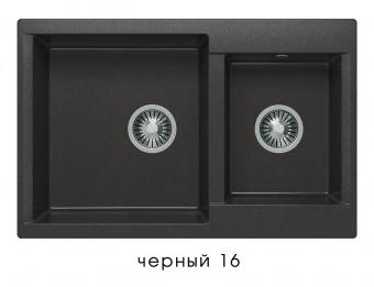 Кухонная мойка POLYGRAN Brig-772 (Polygran Brig -772 черный № 16)