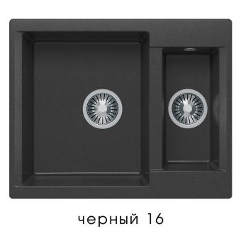 Кухонная мойка POLYGRAN Brig-620 (Polygran Brig -620 черный №16)
