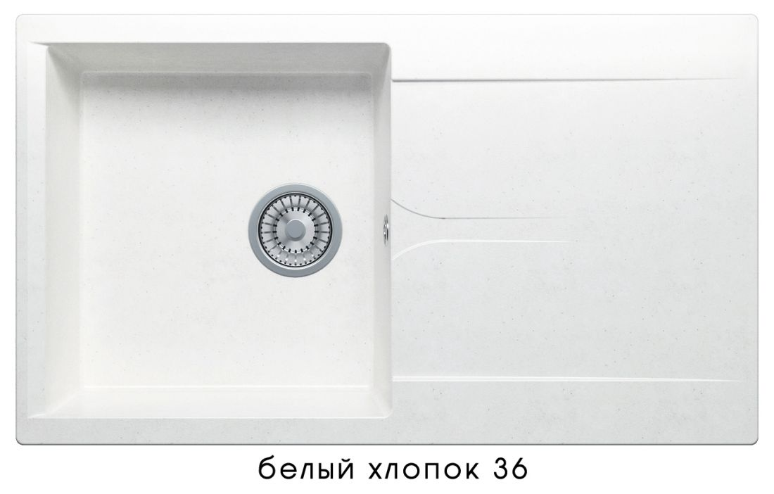 Кухонная мойка POLYGRAN Gals-860 (GALS-860 №36 (Белый Хлопок))