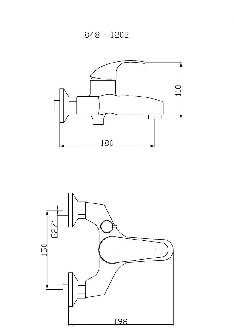 Смеситель для ванны с душем TSARSBERG TSB-848-1202 тип См-ВОРНШлА