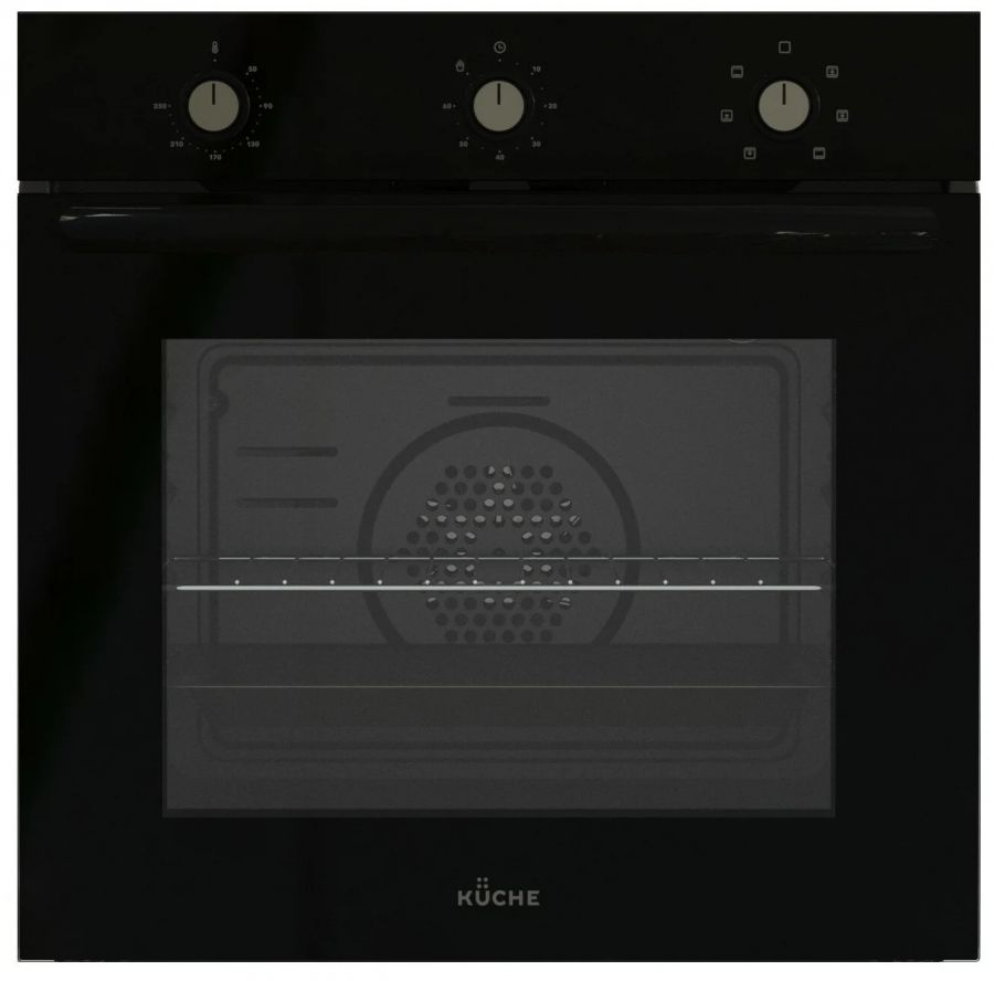 Встраиваемый электрический духовой шкаф KUCHE AGM 167 B Чёрный