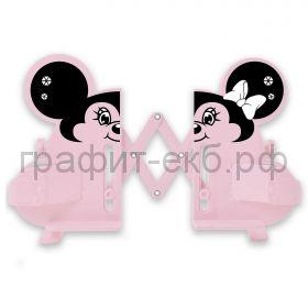 Подставка для книг Феникс+ Мышь розовая раздвижная АБС-пластик 28.6x7x23.5см 54106