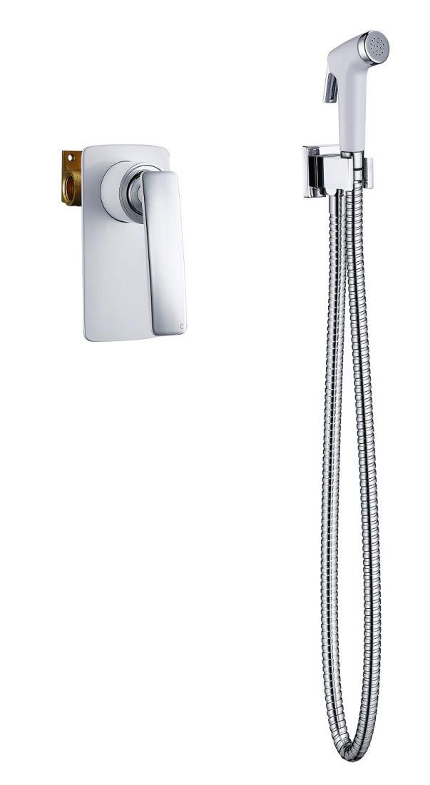 Смеситель встроенный с гигиеническим душем Timo Helmi (4089/00-16SM)