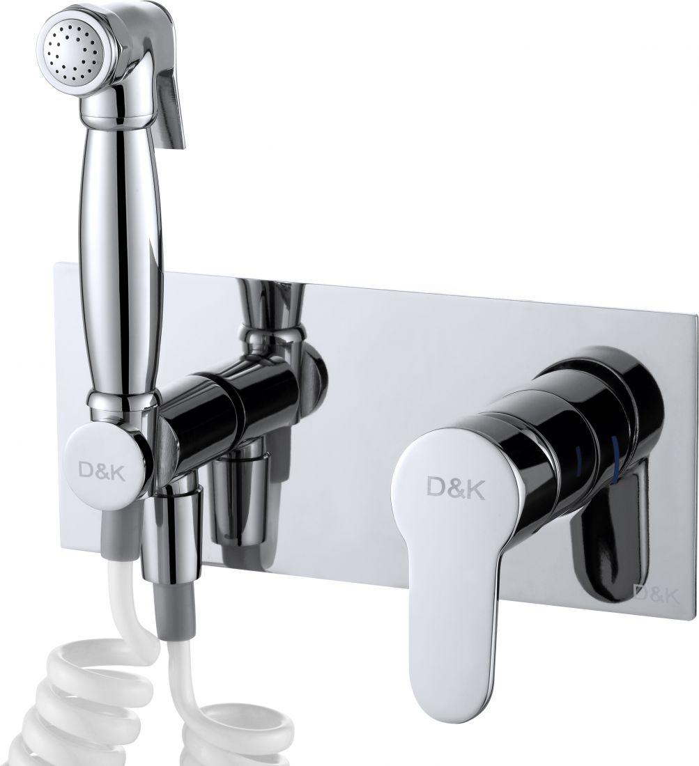 Смеситель с гигиеническим душем встраиваемый D&K Rhein Marx (DA1394501)