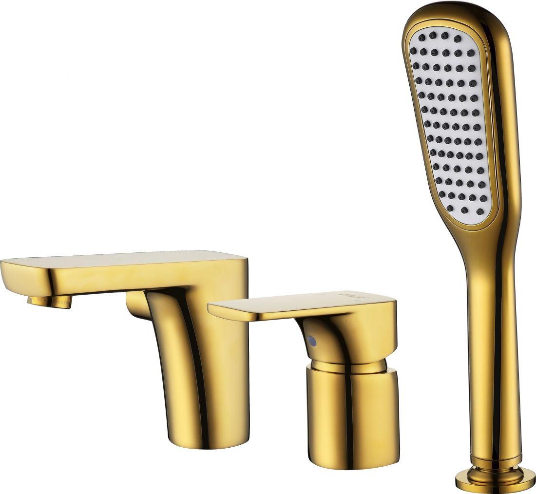 Смеситель на борт ванны D&K Berlin.Tourto (DA1434903) врезной золото