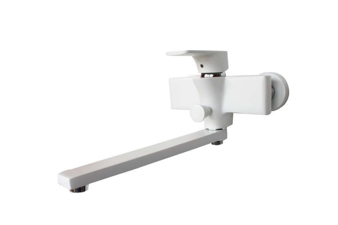 Смеситель для ванны с душем D&K Berlin.Steinbeis длинный излив белый (DA1433326)