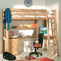 Кровать-чердак Кадет №4А с рабочей зоной
