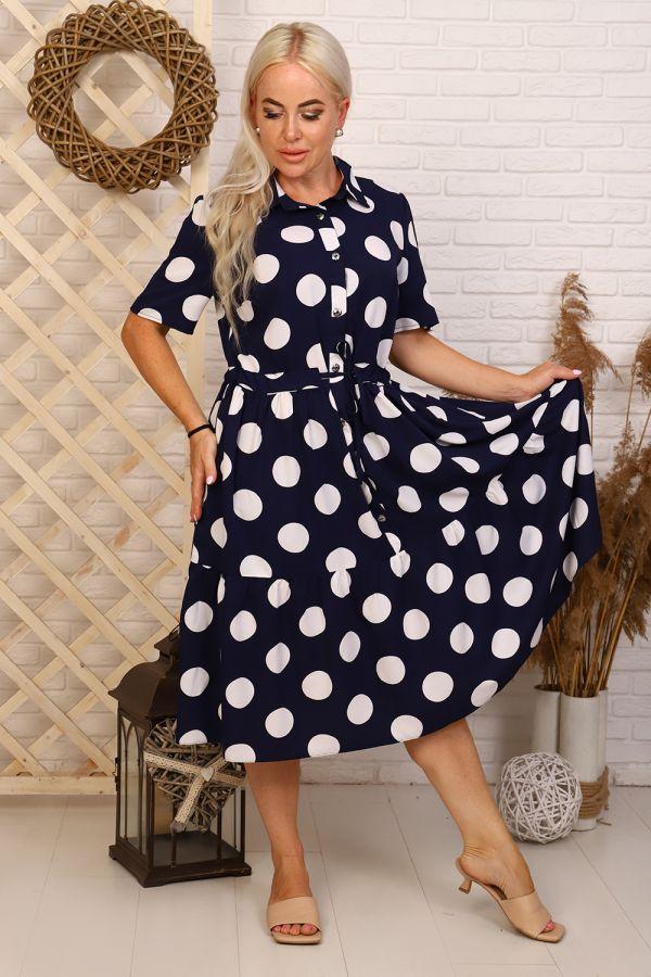 Платье 31541 [синий] р.56 [распродажа]