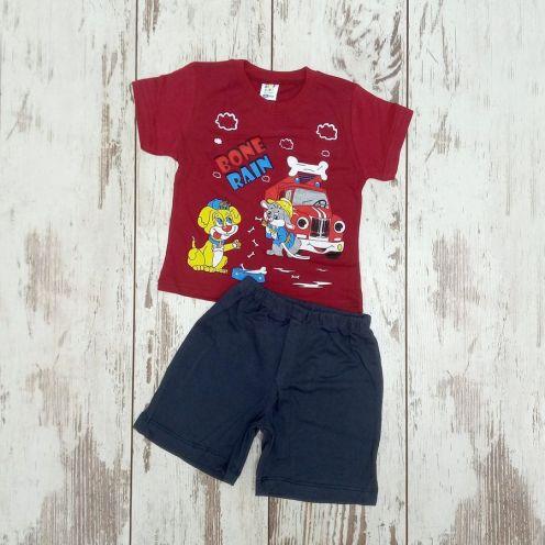 Костюм bone rain красный: футболка, шорты