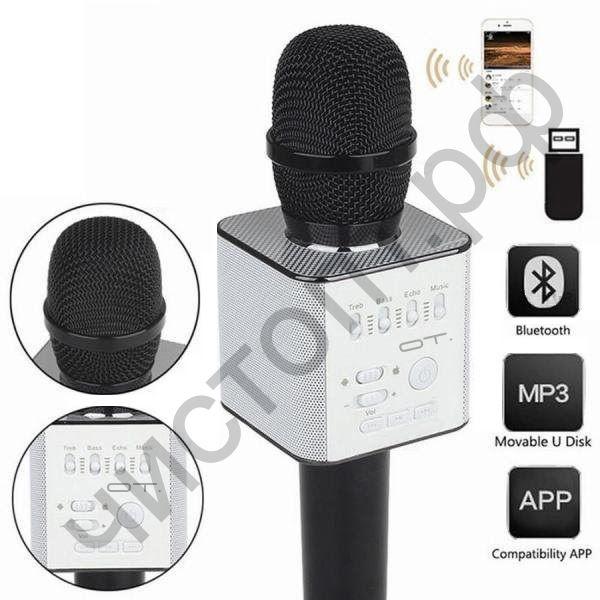 Микрофон Bluetooth OT-ERM05 Черный ( динамики, USB,TF, аккум)