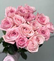 """15 пионовидных роз """"Pink O'hara"""""""