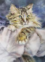 Postcard Watercolor cats 1