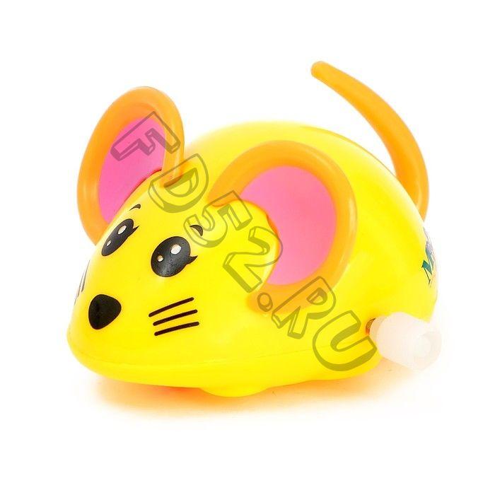 Заводная игрушка «Мышка», цвета МИКС