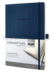 Книжка записная SIGEL CONCEPTUM А4 194стр.лин.мягкая обл. темно-синяя СО317