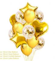 Цветные  гелиевые шары фонтан 1_37