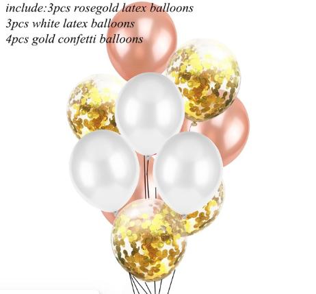 Цветные латексные шары воздушные шары с конфетти 4
