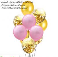 Цветные латексные шары воздушные шары с конфетти 9