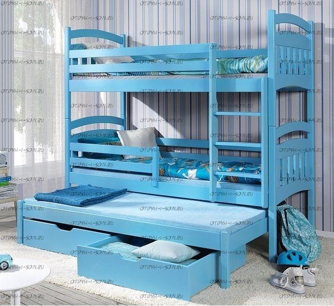 Кровать трехъярусная Сандра Классика №1