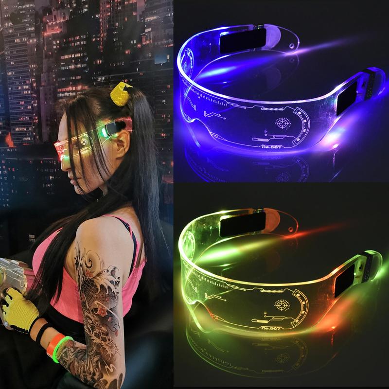 Светодиодные очки PALMEXX Cyberpunk Style, стильный аксессуар для вечеринок и дискотек
