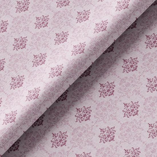 Хлопок Перкаль Винтажные узоры на розовом 50х37