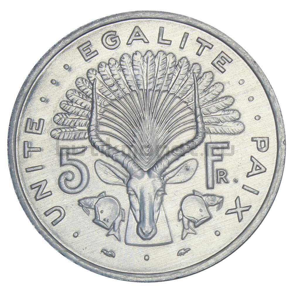 5 франков 1991 Джибути