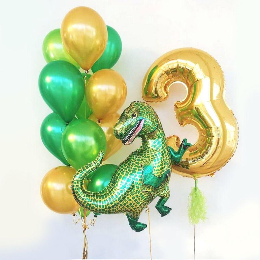 """Набор из шаров """"с днём рождения! динозавры"""""""
