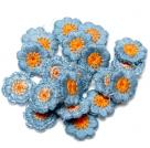 фото Нашивка декоративная Цветок из пряжи 5 штук в упаковке 3020-5