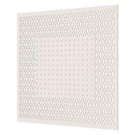 Перфорированная Потолочная Плита Cosca Кристалл/Абако ХДФ Белый В595хШ595 мм / Коска