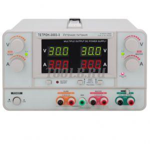 ТЕТРОН-3003-3 Линейный источник питания 3 канала 30 вольт 3 ампера