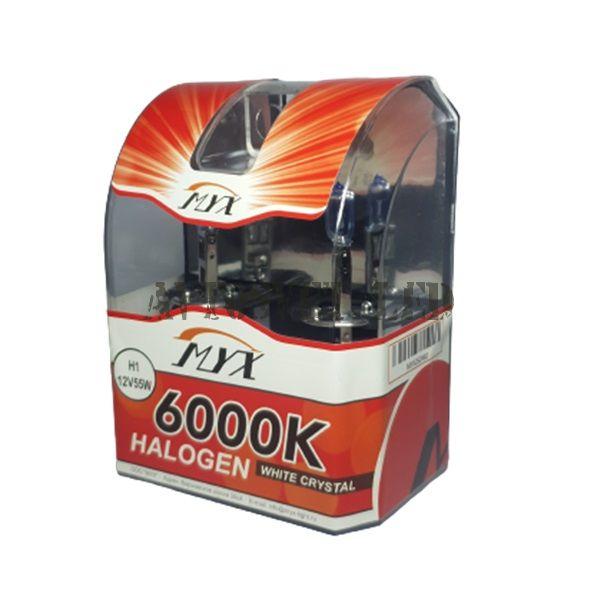Лампы галогеновые H1 12V 55W 6000K