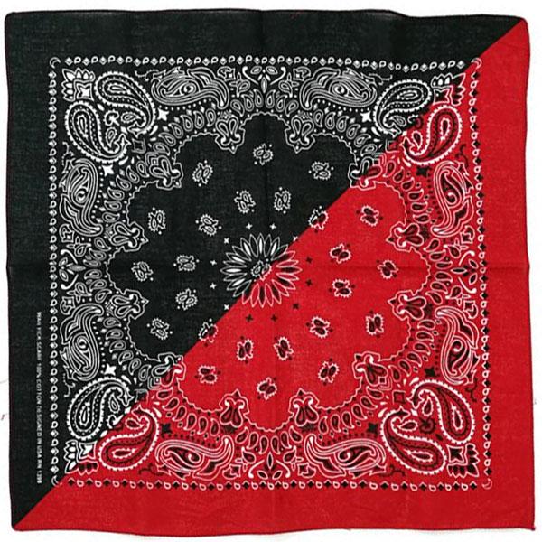 Бандана Огурцы (Paisley) красно-черная