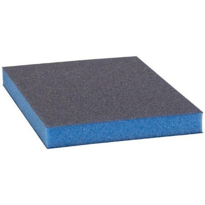 Р800 Siasponge flax pad Абразивная губка двусторонняя 98х120х13 мм, (Синяя)