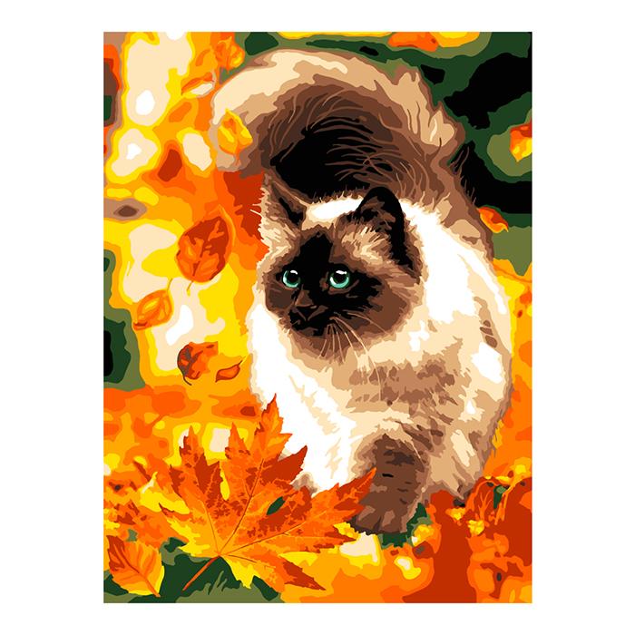 Картина по номерам Осенний пушистик