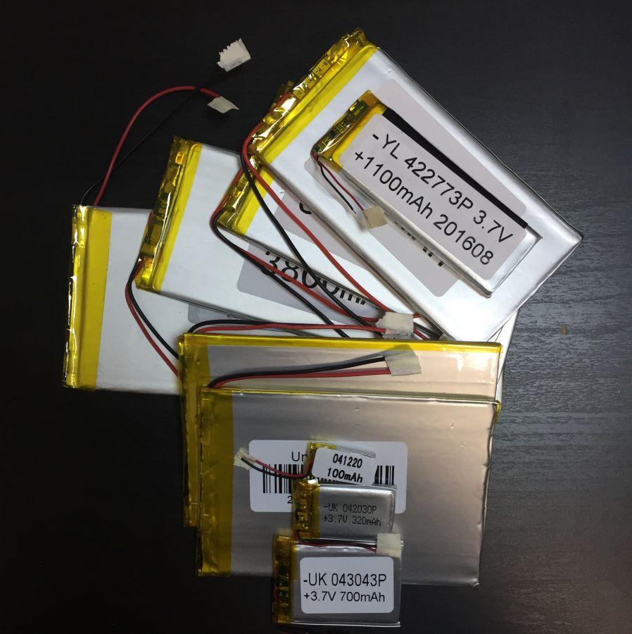 Аккумулятор технический универсальный (3.7 V/5500 mAh) (3 мм x 64 мм х 123 мм)