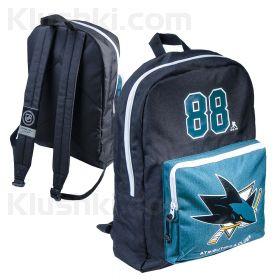 Рюкзак с символикой NHL детский San Jose Sharks №88, черн.-зелен. (ТМ ATRIBUTIKA&CLUB)
